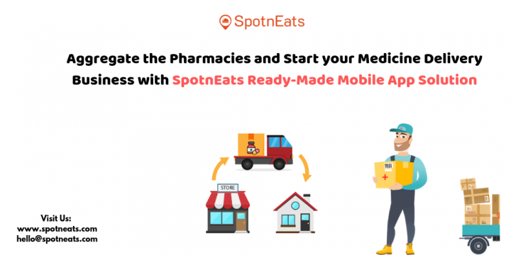 Aggregate the Pharmacies and Start your Medicine Delivery Business with SpotnEats Ready-Made Mobile App Solution